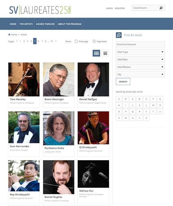 artist-directory-homepage
